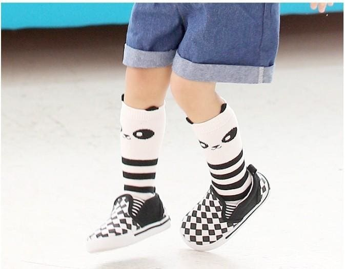 Panda Cartoon Fashion Mid Calf Length Socks - Baby Boys