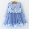 Patchwork Velvet Design Princess Dress - Girls