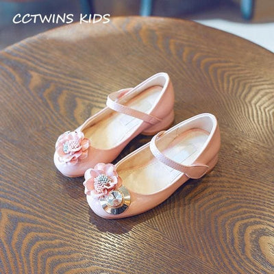 Pink Rhinestone Princess Shoe Girl - Pink / 13 - Girls
