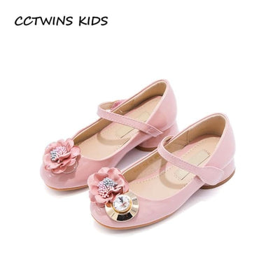 Pink Rhinestone Princess Shoe Girl - Girls