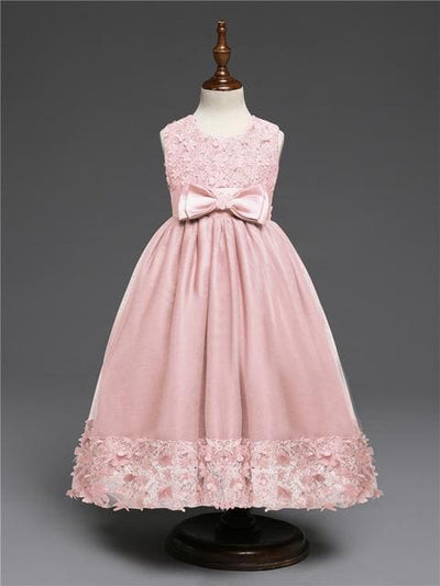 Princess Dress - Peach / 4Y - Girls
