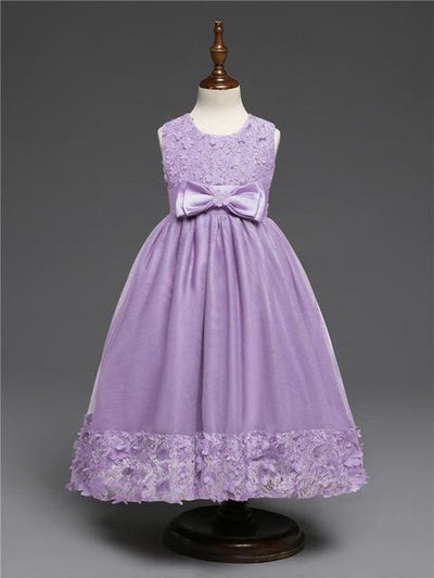 Princess Dress - Purple / 4Y - Girls