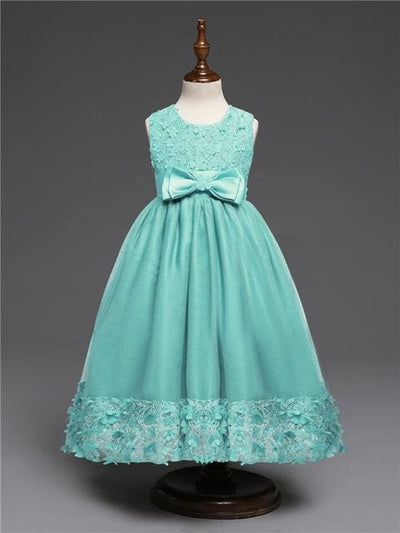 Princess Dress - Turquoise / 4Y - Girls