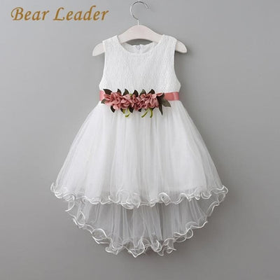 Princess Flowers Belt Dress - Girls