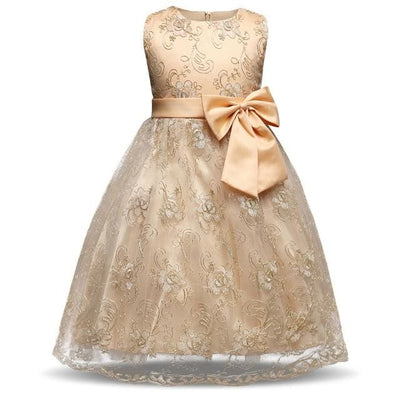 Princess Lace Dress - Gold / 3Y - Girls
