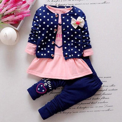 Princess Polka Dot - Blue / 6M / China - Baby Girls