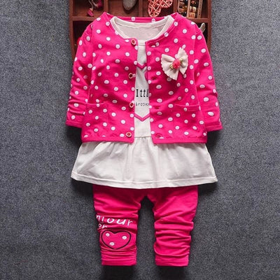 Princess Polka Dot - Hot Pink / 6M / China - Baby Girls