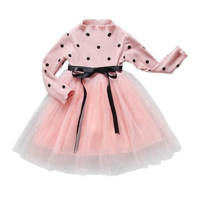 Princess Polka Dot - Pink / 5Y - Girls