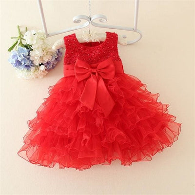 Princess Tutu Dress - Baptism Dress 1 / 3M - Baby Girls