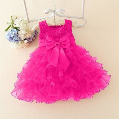 Princess Tutu Dress - Baptism Dress 2 / 3M - Baby Girls