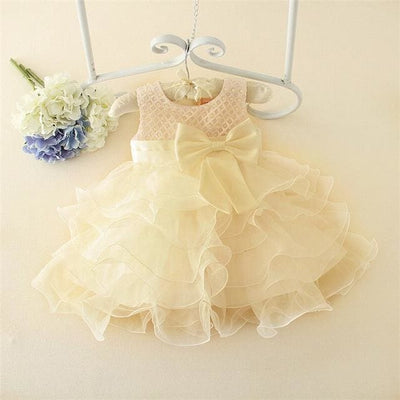 Princess Tutu Dress - Baptism Dress 4 / 3M - Baby Girls