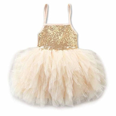 Princess Tutu Party Dresses - Beige / 2Y / China - Girls