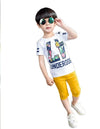 Printing Short Sleeve T-Shirt + Casual Pants - Boys