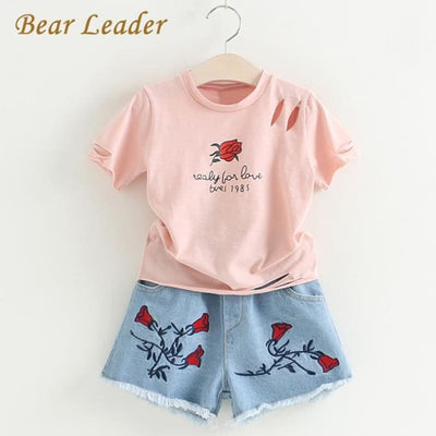 Rose Print Sets - Girls - Outfit