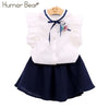 Set T Shirt + Dress 2Pcs Children Clothes Suits - Girls