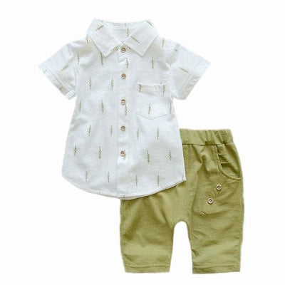 Shirt Outfit - Green / 2Y - Baby Boys