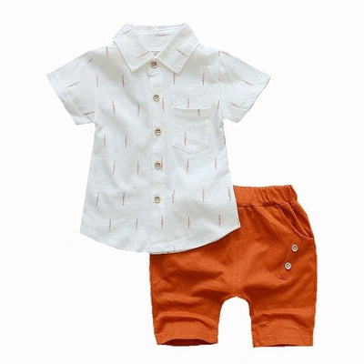 Shirt Outfit - Orange / 2Y - Baby Boys