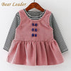 Sleeve Small Bow Princess Dress - Baby Girls