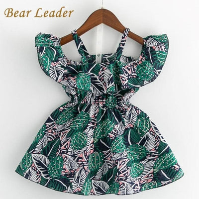 Sleeveless Flowers Dress - Girls