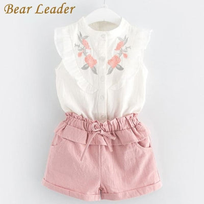 Sleeveless T-Shirt+Shorts 2Pcs - Girls