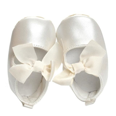 Soft Soled Pu Leather - White / 0-6 Months - Baby Girls