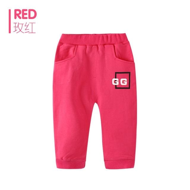 Sports Elastic Waist Boy Pants - Red / 7Y - Boys