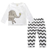 Spring Autumn Cotton Clothing Sets - White Elephant / 9M - Boys