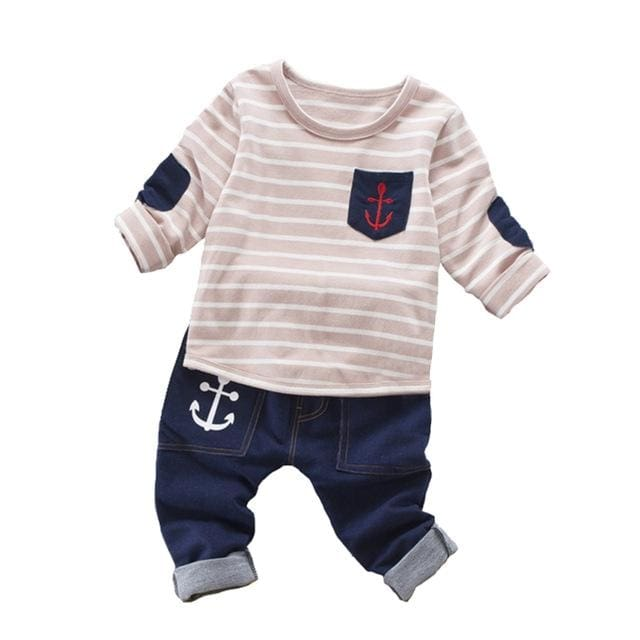 Stripe Shirt Outfit - Baby Boys