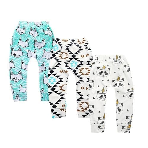 Stylish Cartoon Baby Leggings - Baby Boys