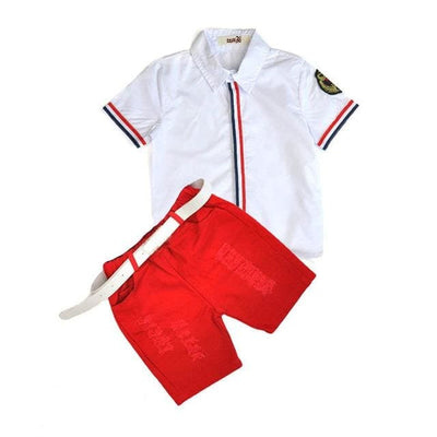 Summer Clothing Set - White A / 2Y - Boys