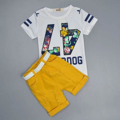 Summer Clothing Set - White E / 2Y - Boys