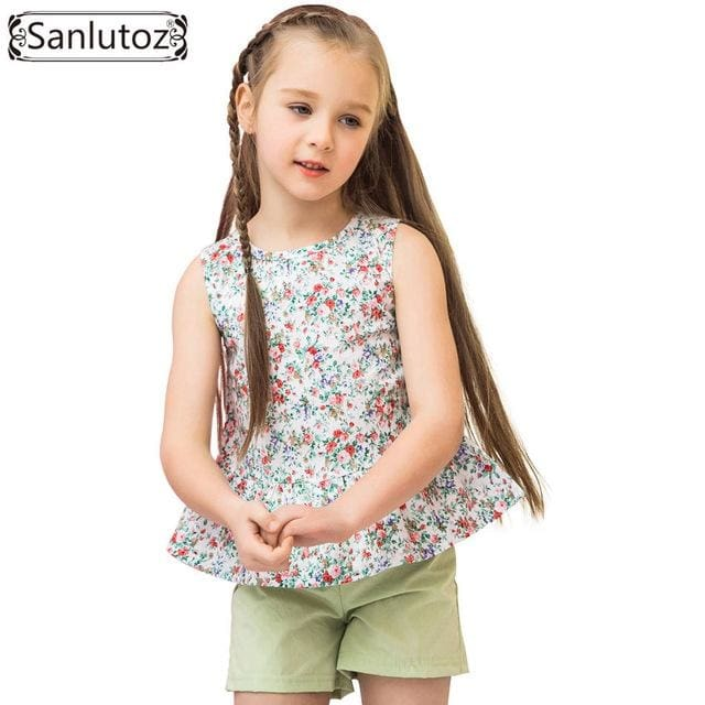 Summer Flower Girls Clothing Sets - Girls