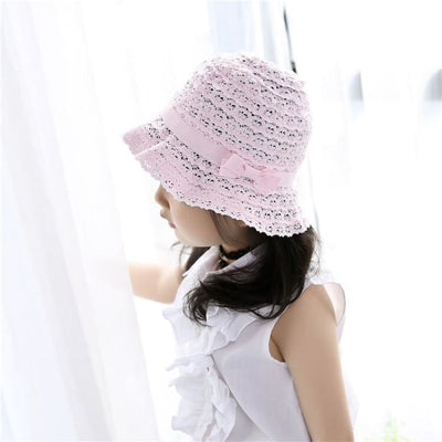 Summer Girls Baby Cotton Pink Cap - Girls