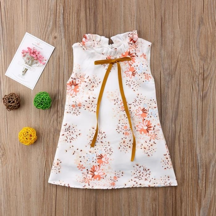 Summer Girls Princess Sleeveless Floral Dress - 1T - Girls - Dress
