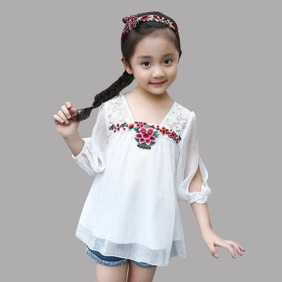 Summer Girls Tops - White / 2Y - Girls