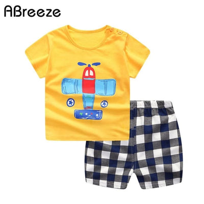 Summer Style Cartoon Clothing Set - Boys - Outfit
