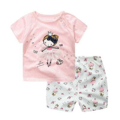 Summer Style Cartoon Clothing Set - S909 (Pink) / 9M - Boys - Outfit