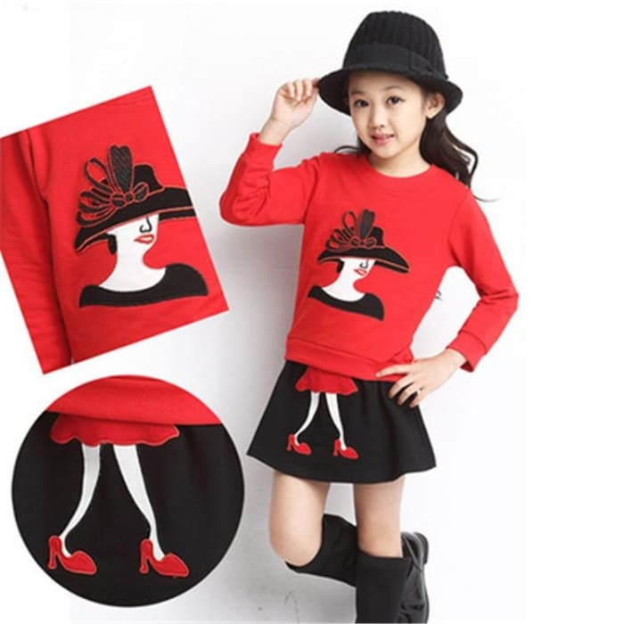 Sweater Shir + Tutu Skirts Outfit Set - Girls - Outfit