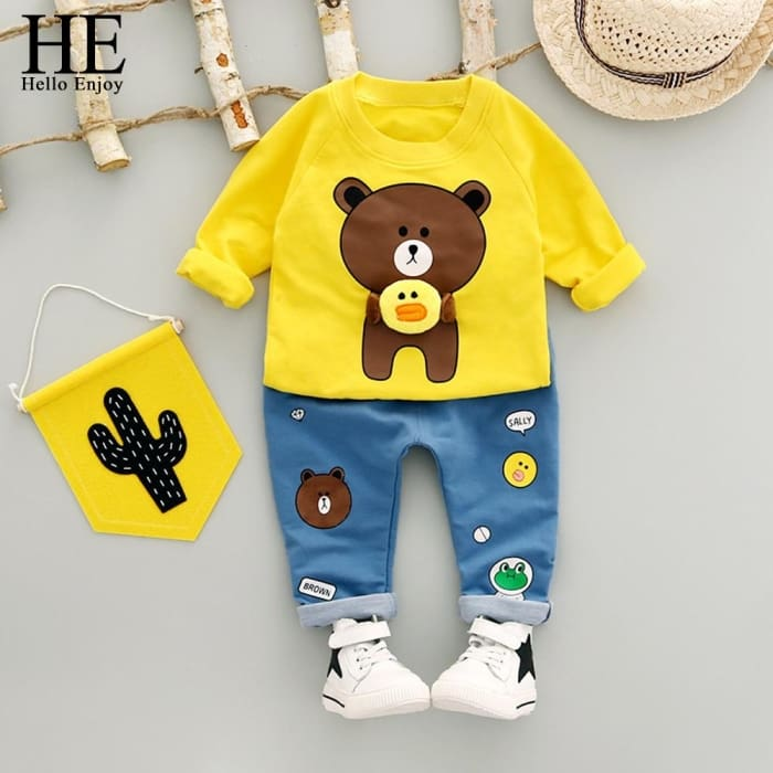 Toddler Boy Clothing Spring Set - Yellow / 3Y - Baby Girls