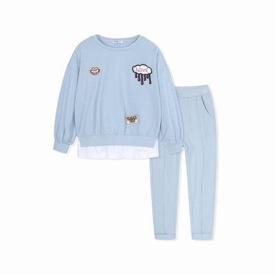 Toddler Girls Outfit - Blue / 2Y - Girls
