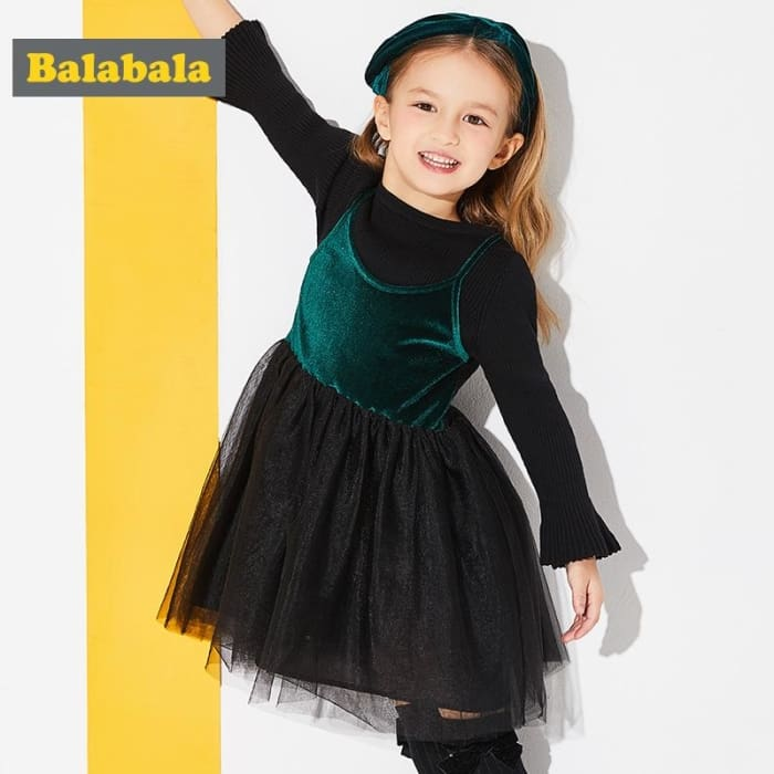 Toddler Girls Spring Dress - Black / 2Y - Girls