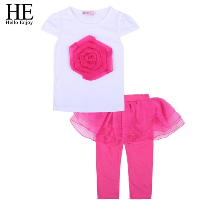 Toddler Girls Summer Clothing Fashion Kids - Orange / 3Y - Girls