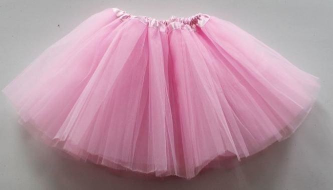 Toddler Tutu Skirt Pink Color - White - Girls