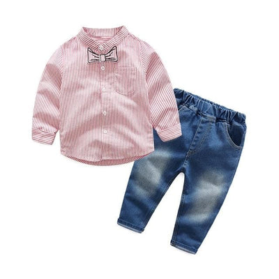 Top Jean Denim - Red / 2Y - Boys - Outfit