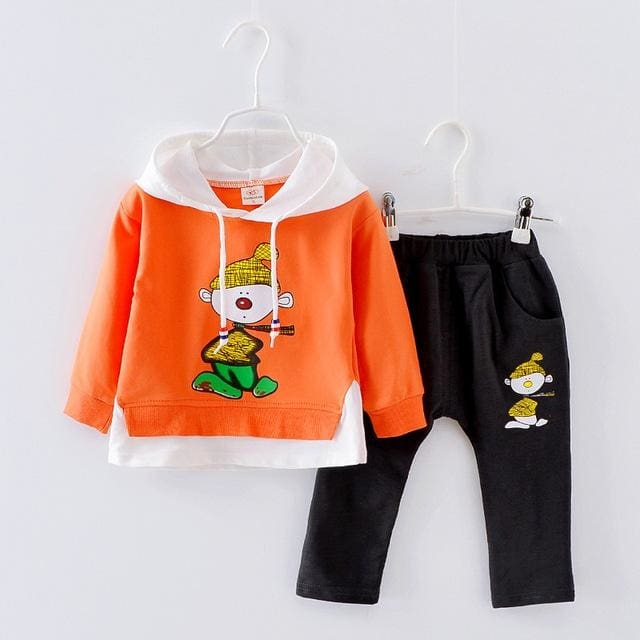 Tracksuit Autumn Clothing Sets Clothes Kids Hooded 2 Pcs - Girls