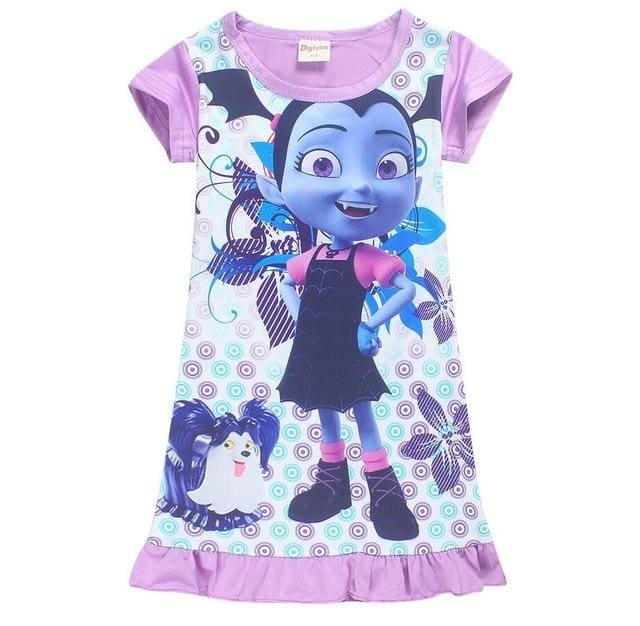 Vampirina Costume Dresses For Girls With Headpin + Wings - Girls