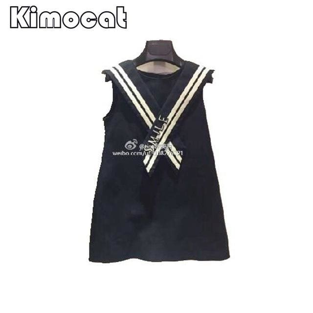 Vest Navy Kids Dress - Girls