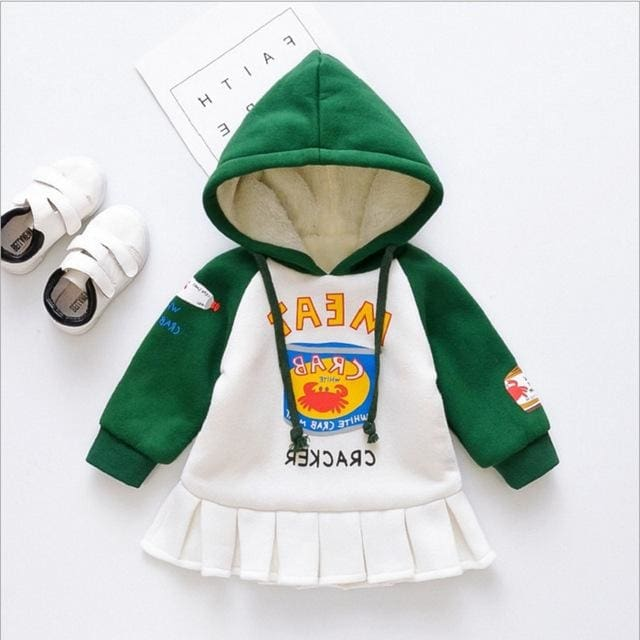 0a229bb84 Winter Autumn Hooded Dress Long Sleeve