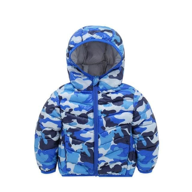 Winter Camo Jacket For Boy - Boys