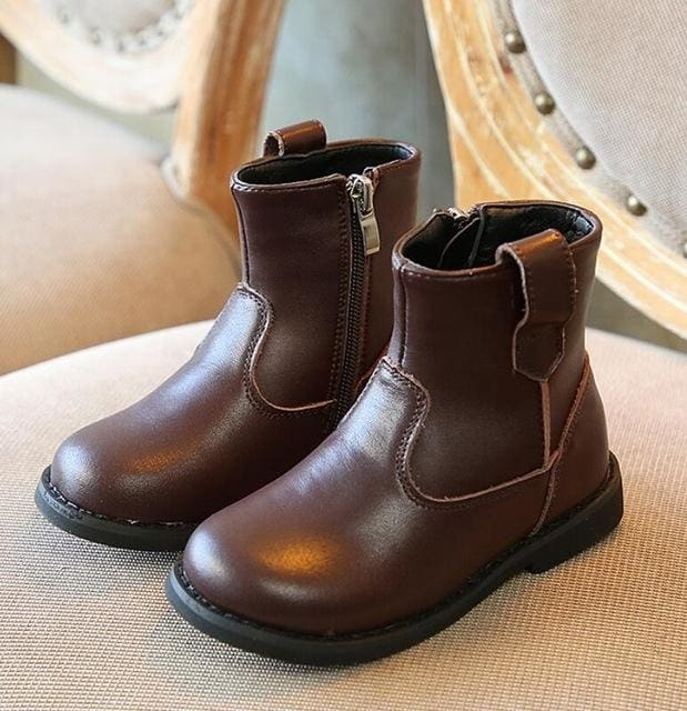 Winter Genuine Leather Boots - Boys